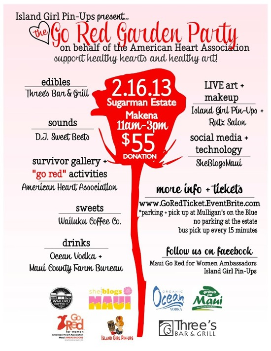 Go Red Island PIn Up Party