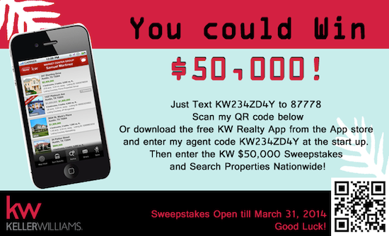 Win 50,000 via Keller Williams Sweepstakes