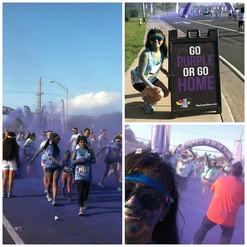 Color Run Maui 2014 - Purple