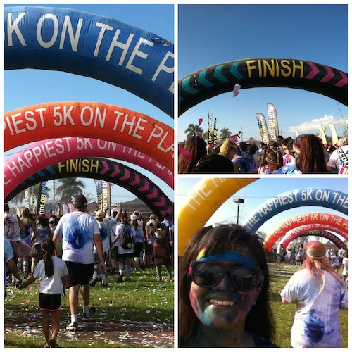 The Color Run Maui 2014 - Finish