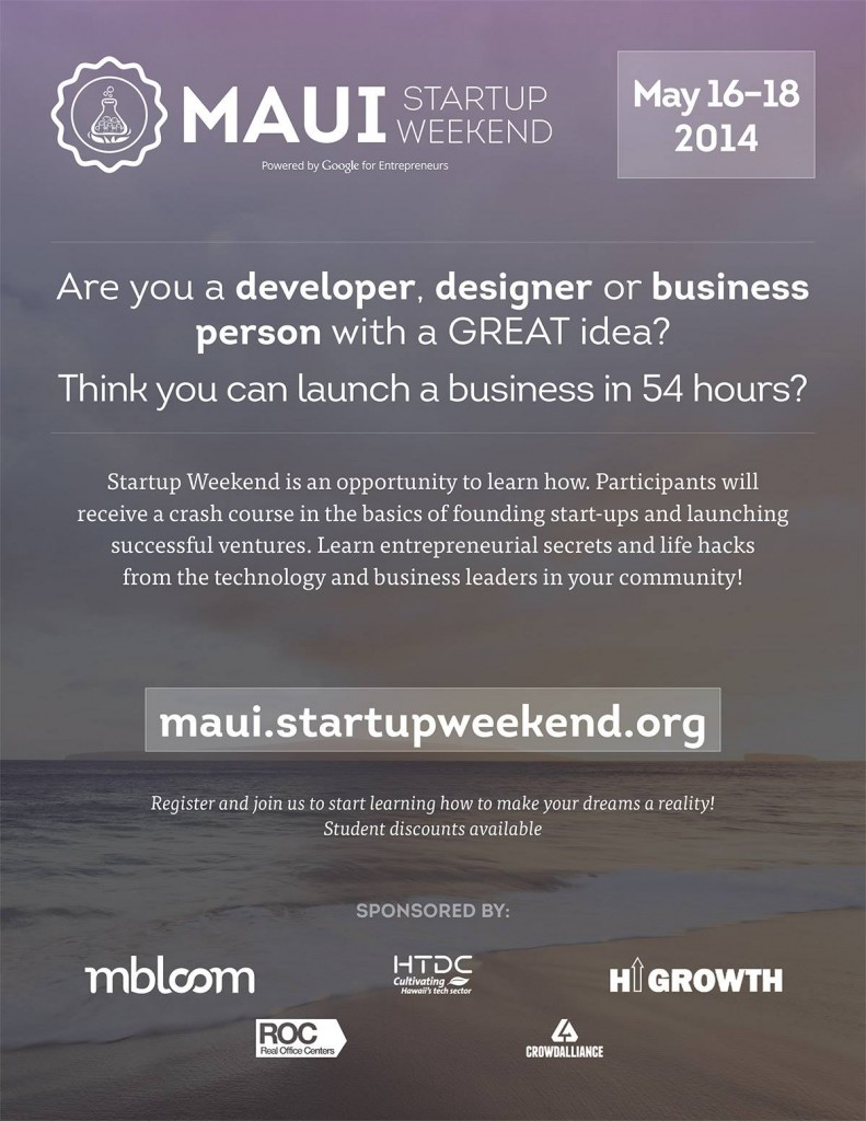 Start Up Weekend Maui