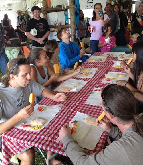 Popsicle eating contest Maui