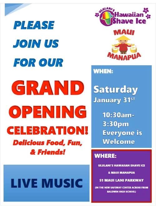 Ululani's Grand Opening Maui Lani