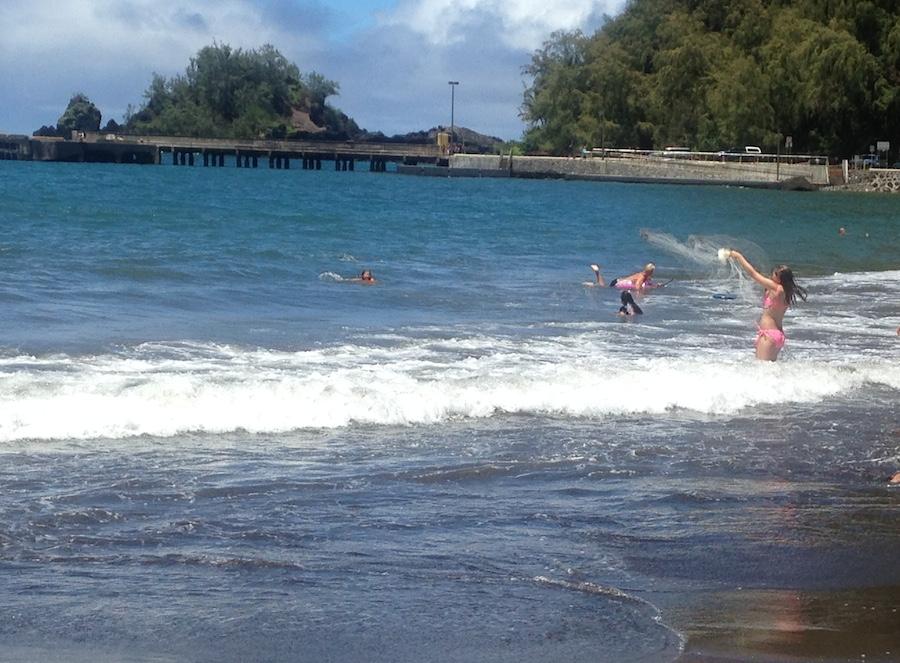 Throw Net Fishing Hana Bay via Travaasa Hana