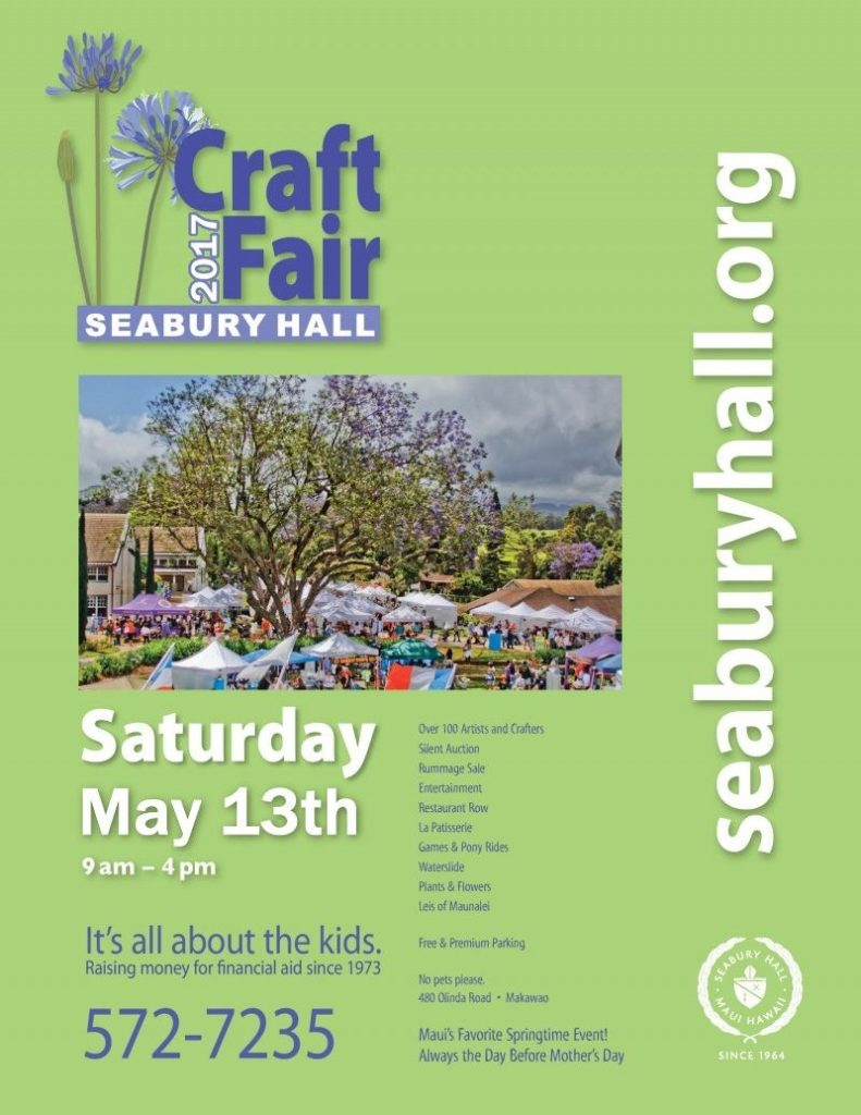The Seabury Hall Craft Fair happens the day before Mother's day - A ...
